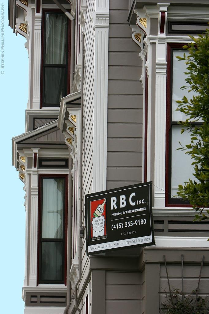 Rbc painting inc 896 steiner street victorian stick for Steiner street